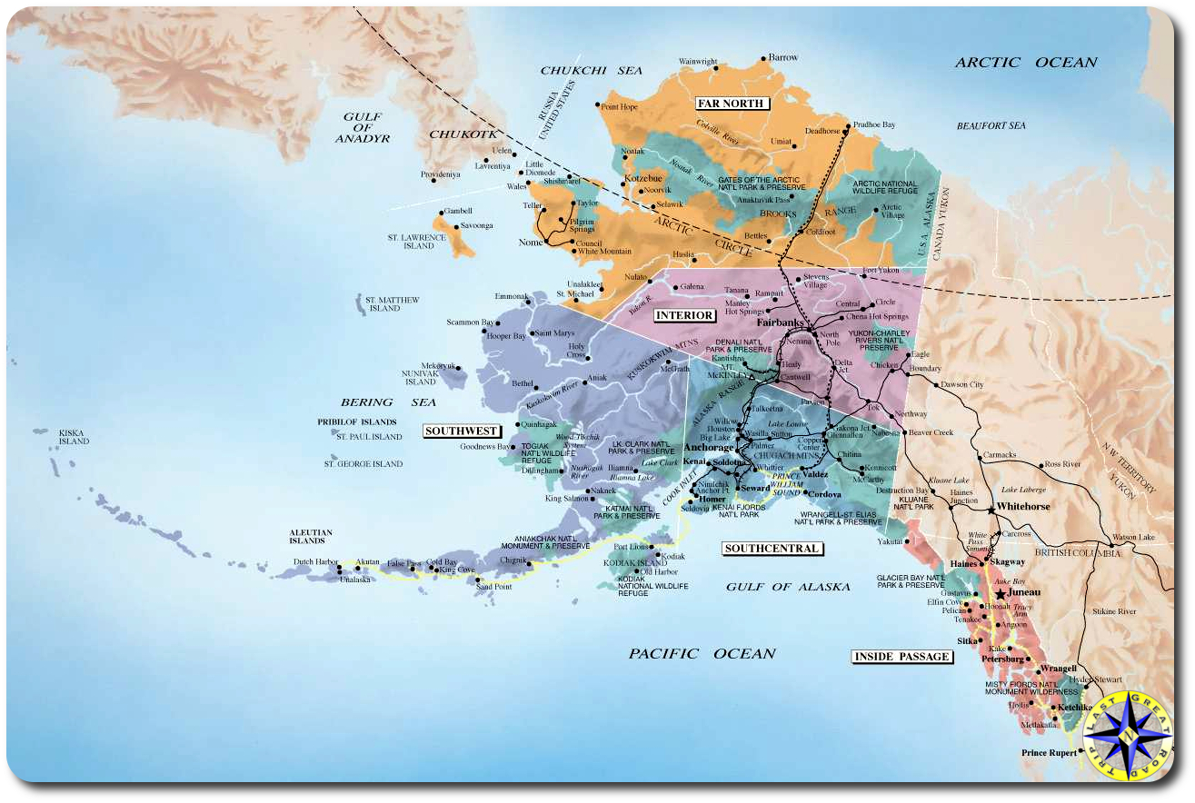 Arctic Circle Alaska Map Alaska Road Trip Itinerary | Overland Adventures and Off Road