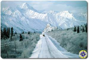 plowing snowy alaska road