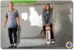 levi brown chad muska burnside skate park