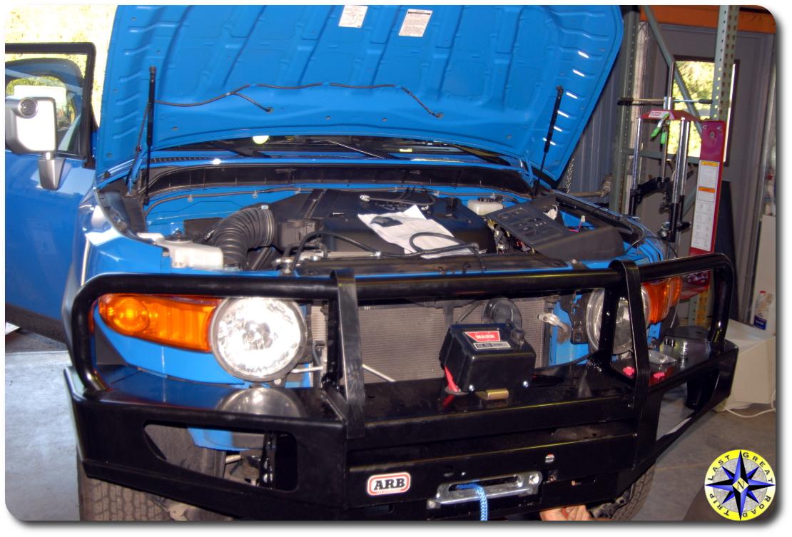 arb bumper install fj cruiser