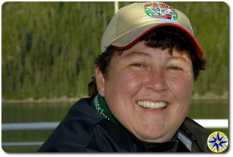 woman alaksa ferry passanger