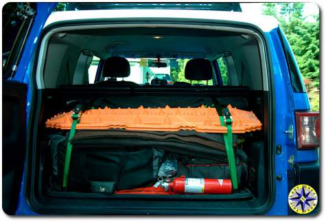 fj cruiser packed up