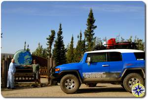 alaska arctic circle sign toyota fj cruiser