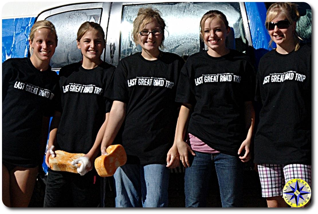 girls in last great road trip t-shirt