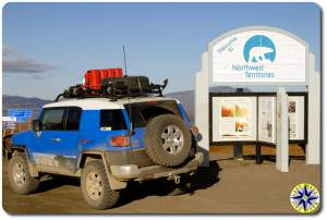 fj cruiser northwest territory sign