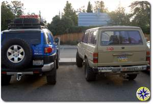 fj cruiser and land cruiser