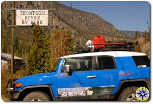 fj cruiser thompson river rv park
