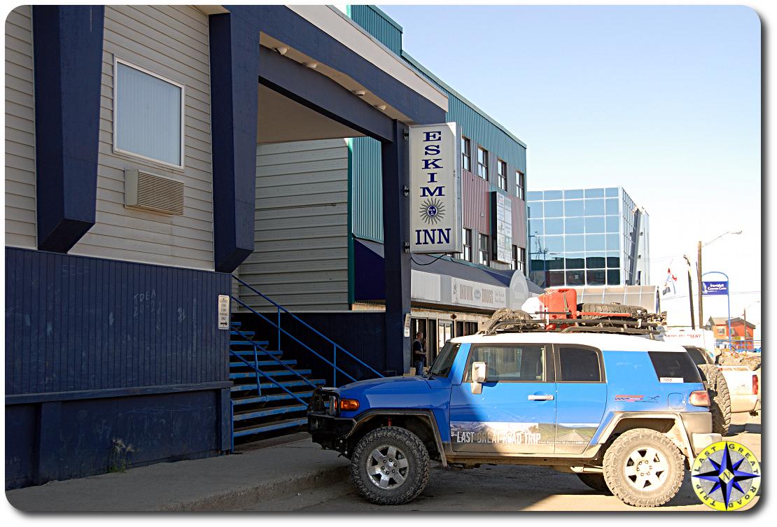 Eskimo Inn fj cruiser inuvik canada