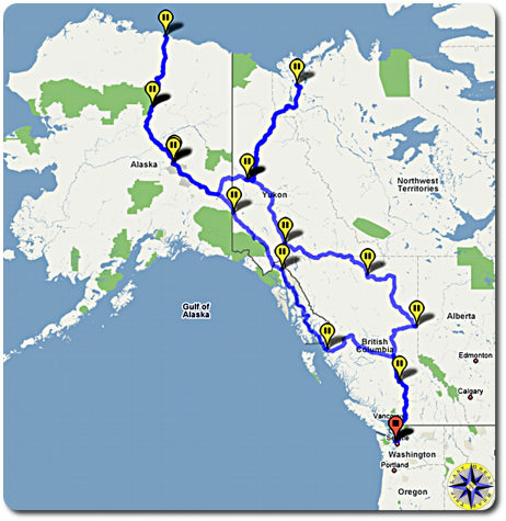 arctic circle adventure trip map