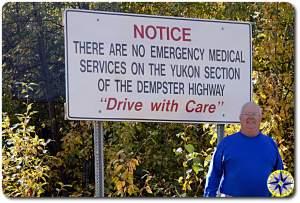 dempster highway warning sign