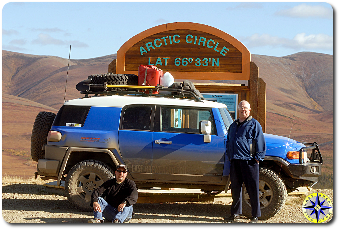 fj cruiser arctice circle sign dempster highway