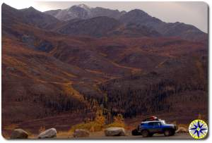 fj cruiser fall colors dempster highway