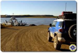 fj cruiser ferry crossing dempster highway
