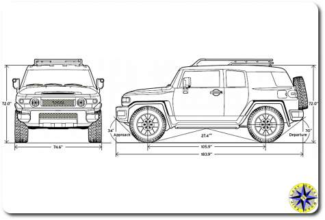 FJ Cruiser dimensions drawing