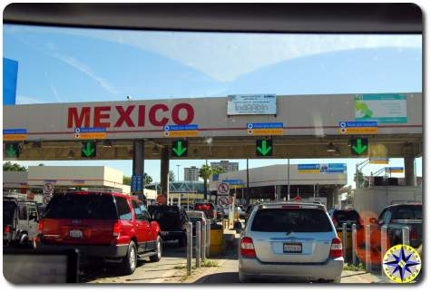 USA Mexico border crossing