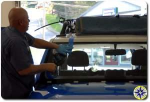 installing fj cruiser windshield