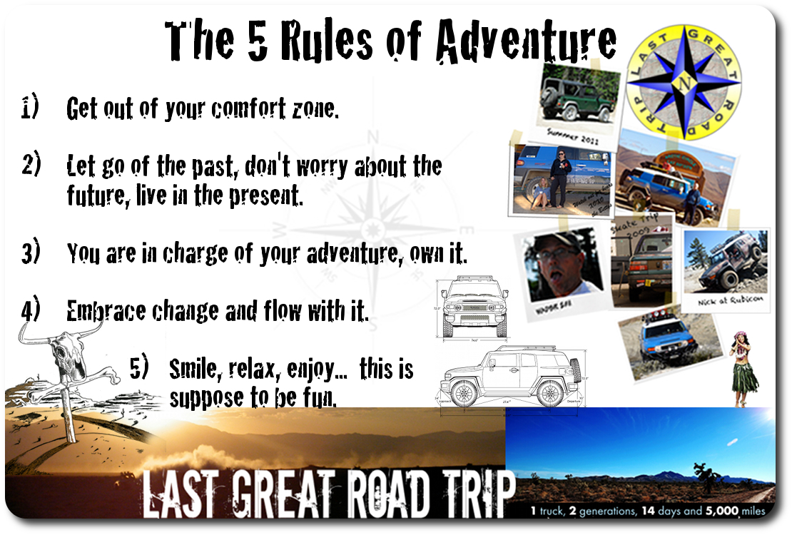 off-road adventure rules