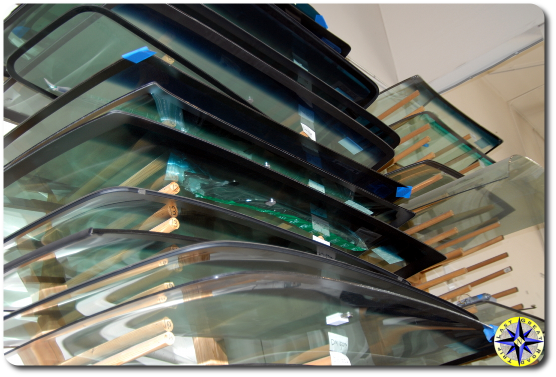 stack of windshields