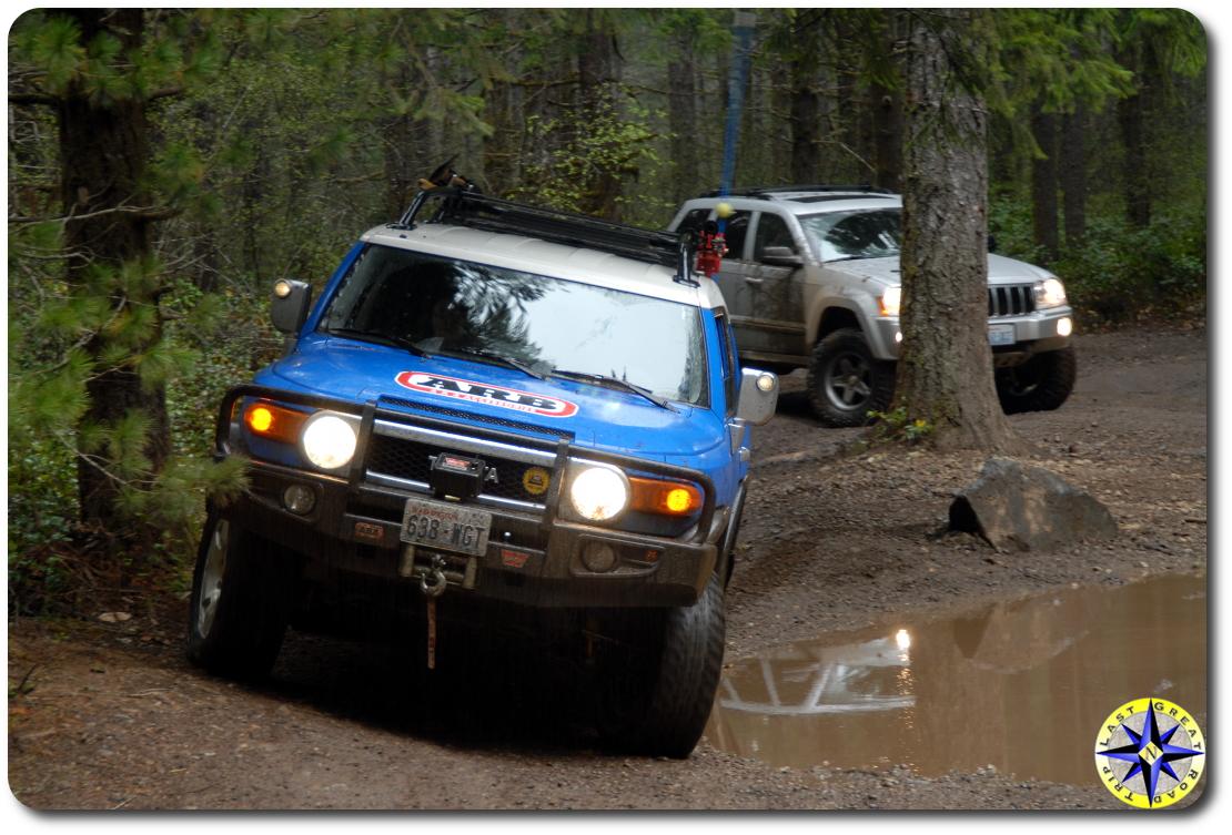 fj cruiser tahuya forest jeep