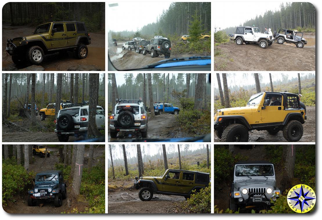 jeeps and FJ Cruiser tahuya 4x4 trails