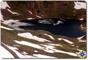 ice on mountain lake
