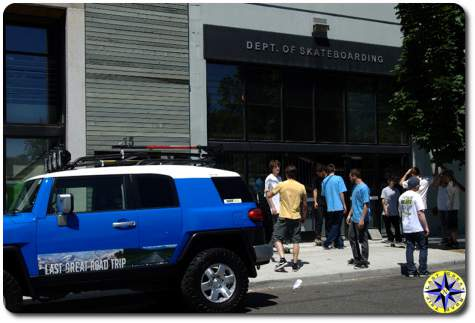 dept of skateboarding fj cruiser
