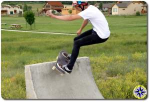skater working jersey barrier