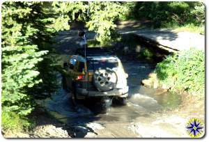 sun fusion fj cruiser water crossing