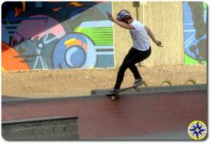 tail slide skateboarding