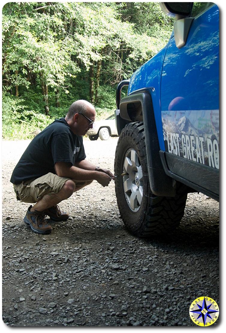airing down 4x4 tires fj cruiser