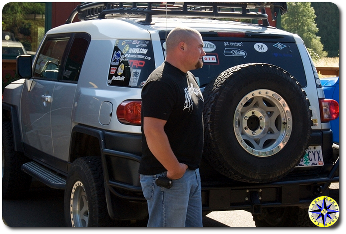 silver fj cruiser metal tech rear bumper