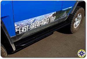 fj cruiser metal tech slider rub rail