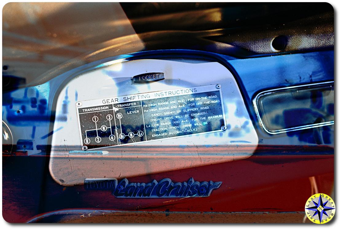 fj40 gear dash shifting instructions