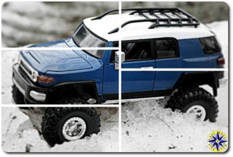 fj cruiser scale model