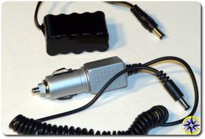 bullet cam battery and power charger