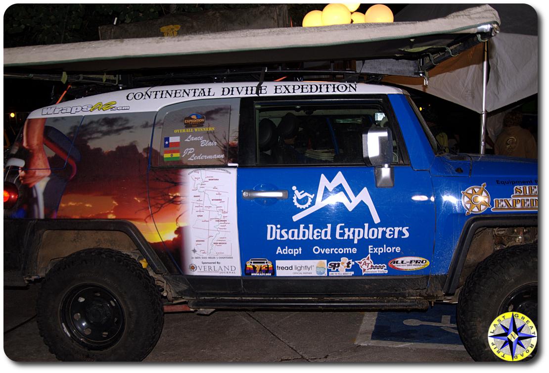 disabled explorers fj cruiser
