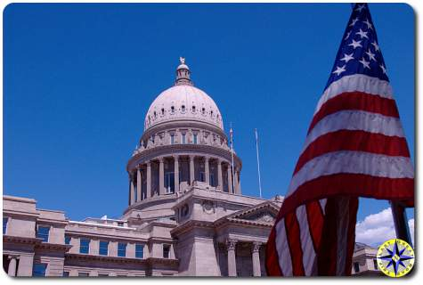 boise idaho capital flag