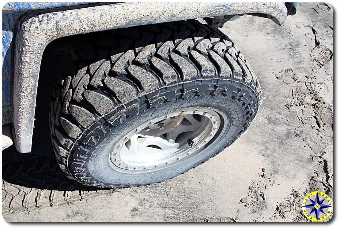 toyo open country MT tire in sand