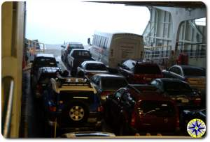 washington state ferry car deck