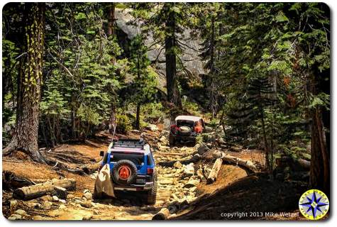 fj cruisers on rubicon trail