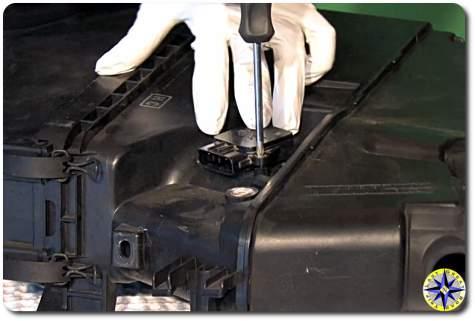 toyota mass air flow sensor removal