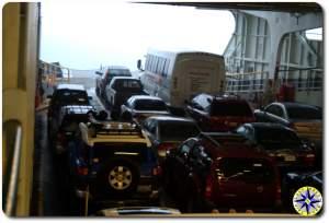 washington state ferry car deck