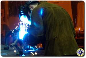 LT welding on fj cruiser knuckle gusset