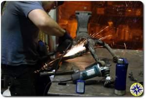 grinding prep fj cruiser knuckle