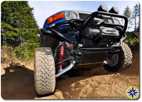 toyota fj cruiser front long travel suspension flex