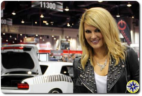 Courtney Hansen at sema