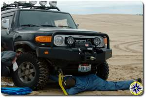 checking fj cruiser axle damage