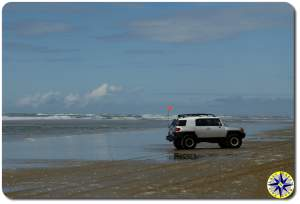 fj cruiser ocean beach