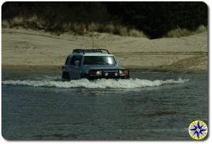 silver fj cruiser water crossing