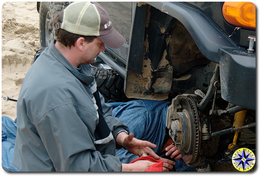 front axle field repair